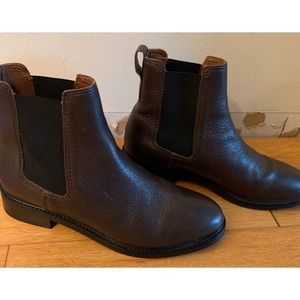 H&M Chelsea Leather Ankle Boots Sz 39 (8.5)